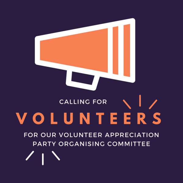 join our organising committee for the volunteer