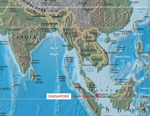 Singapore On World Map Aware Singapore